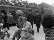 At Shanghai North railway station, 1949