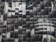 Sculptural Steel Labyrinth at a Former Coal Mine