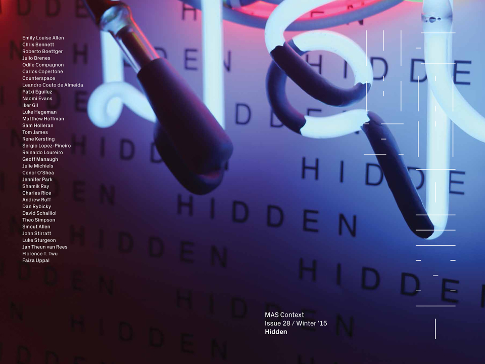 MAS Context releases its twenty-eight issue, HIDDEN