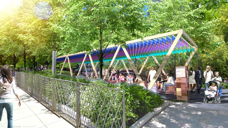 Summer pavilion in Millennium Park, Chicago © MAS Studio / Andrew Obendorf