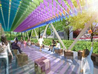 Summer pavilion in Millennium Park