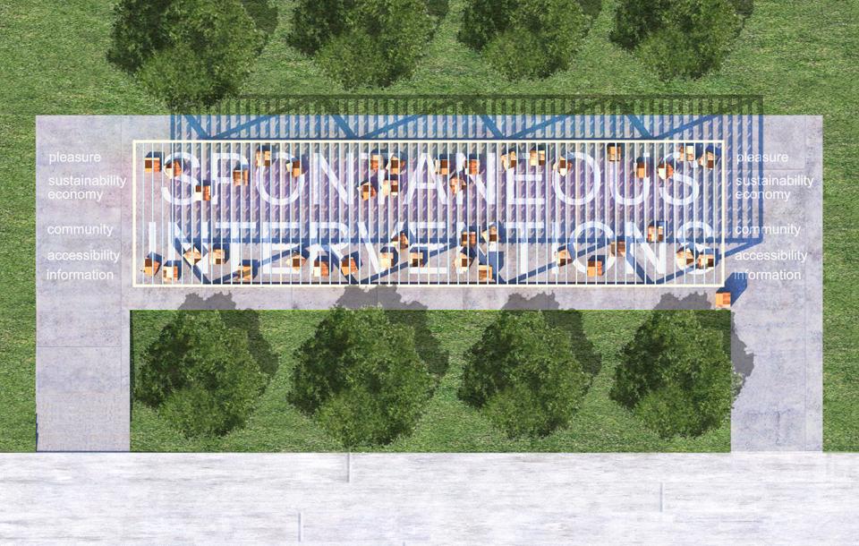 Plan of the summer pavilion in Millennium Park, Chicago © MAS Studio / Andrew Obendorf