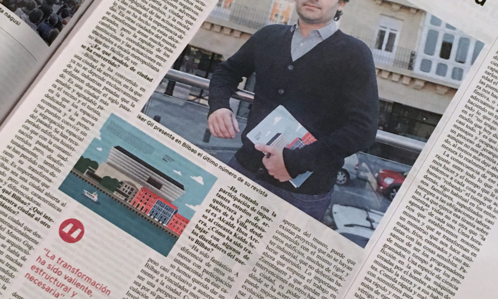 Iker Gil interviewed by Bilbao newspaper