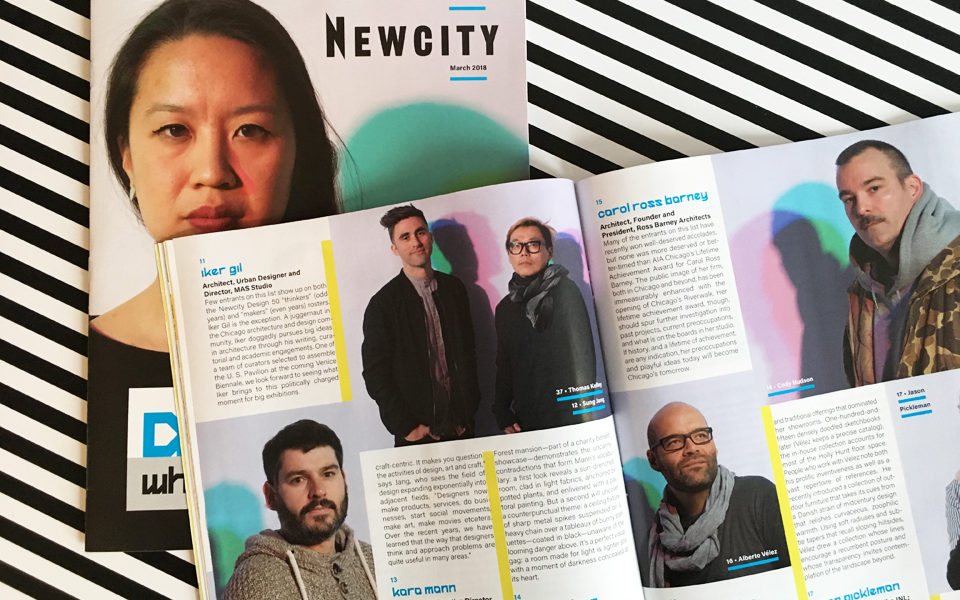 Iker Gil in Newcity's 2018 Design 50